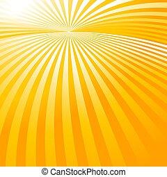 soleil, résumé, rayons, fond