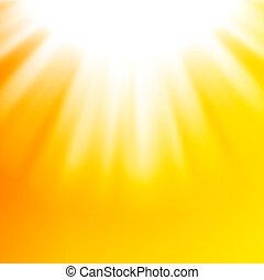 soleil, résumé, vecteur, fond