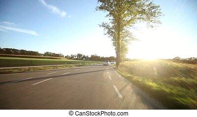 soleil, ruelle, conduite