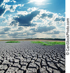soleil, sécheresse, terre, chaud, sous