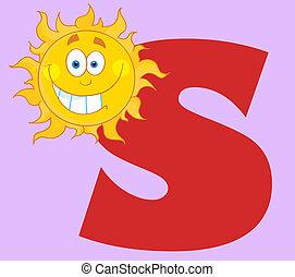soleil souriant, s, lettres