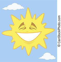 soleil, sourire, briller