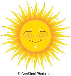 soleil, sourire