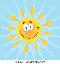 soleil, sourire, fond
