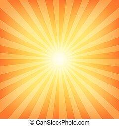 soleil, sunburst, modèle