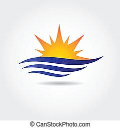 soleil, symbole, illustration