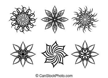 soleil tribal tatouage soleil tribal blanc isol. Black Bedroom Furniture Sets. Home Design Ideas