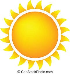 soleil, temps, icône