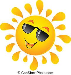 soleil, thème, 5, image