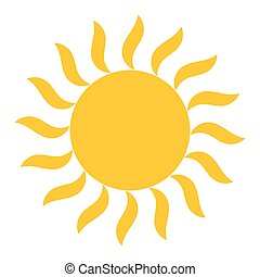 soleil, vecteur, briller, icône