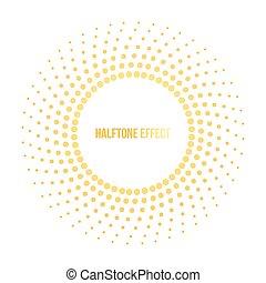 soleil, vecteur, effet, illustration, halftone