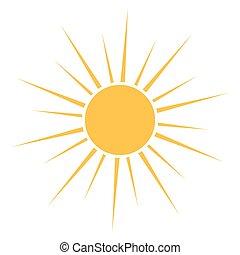 soleil, vecteur, icône