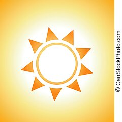 soleil, vecteur, illustration, levers de soleil