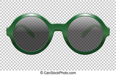soleil, vecteur, lunettes, illustration, réaliste