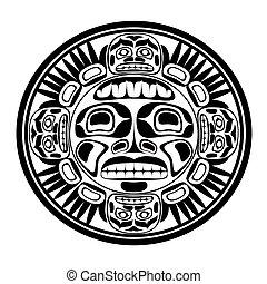 soleil, vecteur, symbole., illustration