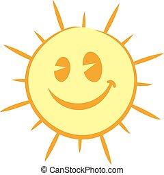soleil, visage heureux