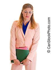 Solemn Executive Business Woman