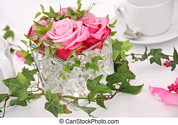 Solemnly laid wedding table - Solemnly laid table for a...