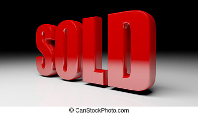 fine 3d image of red sold text background