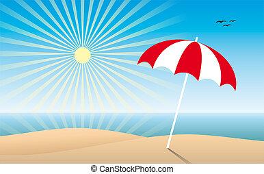 solfyldt, strand