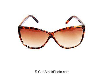 solglasögon, brun