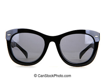 solglasögon, isolerat, vita, bakgrund