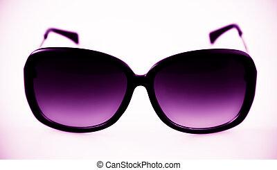 solglasögon, med, plastisk, ram