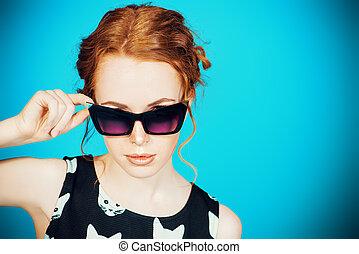 solglasögon, pinuppa