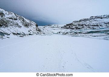 Solheimajokull glacier, Iceland