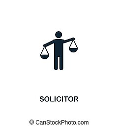 Solicitor icon. Premium style design from business management icon collection. Pixel perfect Solicitor icon for web design, apps, software, print usage