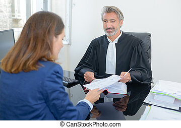 Solicitor with client