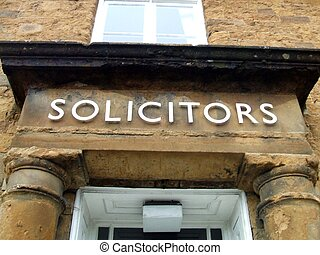 Solicitors sign