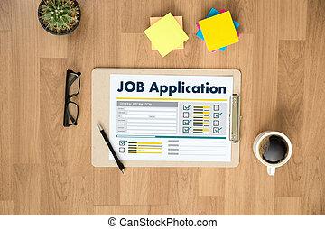 Aplicacion Solicitante De Trabajo Profesion Arriba