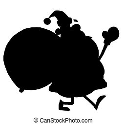 Black Silhouette Of Santa