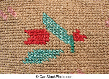 Solid embroidery stitch