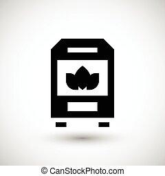 Solid fuel boiler icon