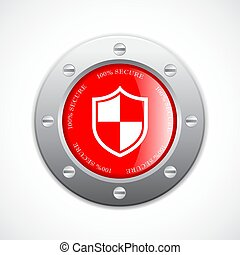 Solid metal secure web button