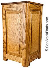 Oak Wood Pedestal End Table