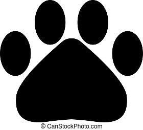 Solid Paw icon for your design. IVector illustration.