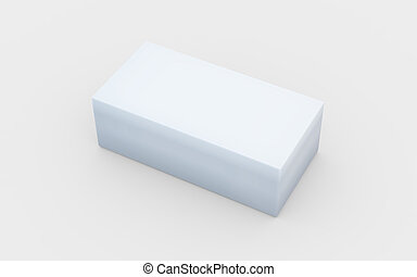 solid pure white box - white cardboard material of rectangle...