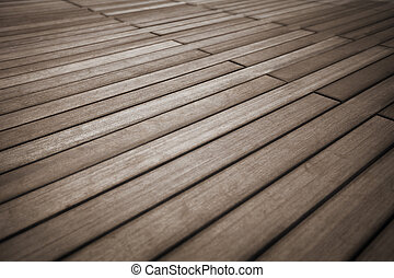 Solid wood flooring surface close up