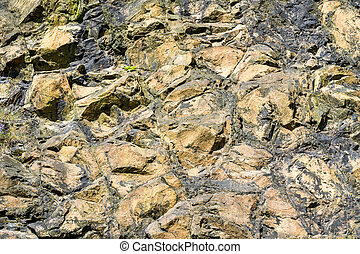 Solid yellow stone background