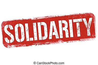 Solidarity grunge rubber stamp