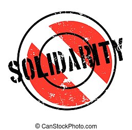 Solidarity rubber stamp. Grunge design with dust scratches....