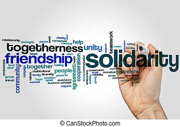 Solidarity word cloud