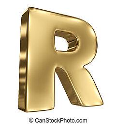solide, alphabet, r, lettre, or