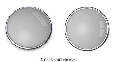 solide, bouton, -, gris, 20%, 3d