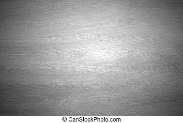 solide, feuille, arrière-plan noir, argent, métal