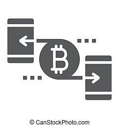 solide, finance, 10., signe, argent, bitcoin, eps, pair, vecteur, modèle, graphiques, icône, fond blanc, glyph