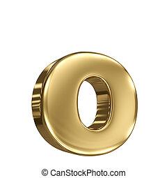 solide, lettre alphabet, o, or